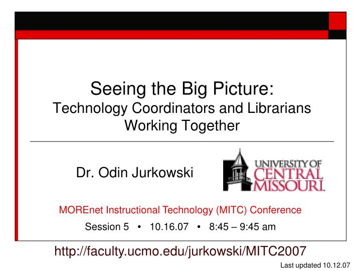 Seeing the big picture technology coordinators and librarians working together
