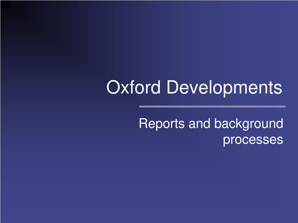 oxford developments l.