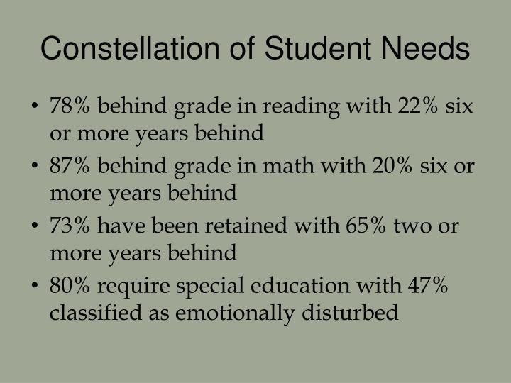 Constellation of student needs