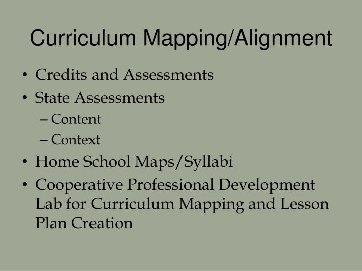Curriculum Mapping/Alignment