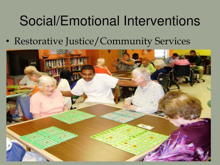 Social/Emotional Interventions