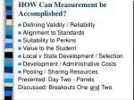 how can measurement be accomplished