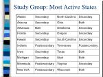 study group most active states