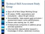 technical skill assessment study group