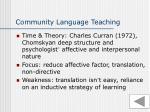 community language teaching