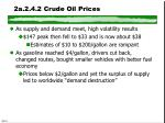 2a 2 4 2 crude oil prices