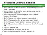 president obama s cabinet
