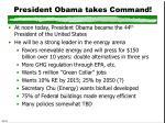 president obama takes command