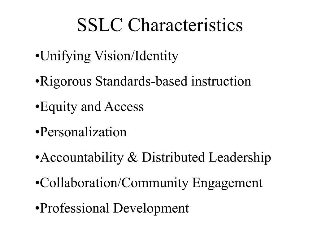 SSLC Characteristics