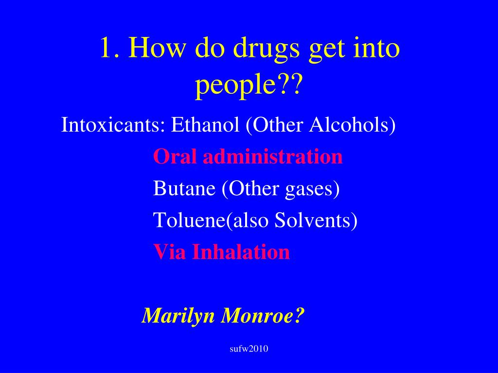1. How do drugs get into people??
