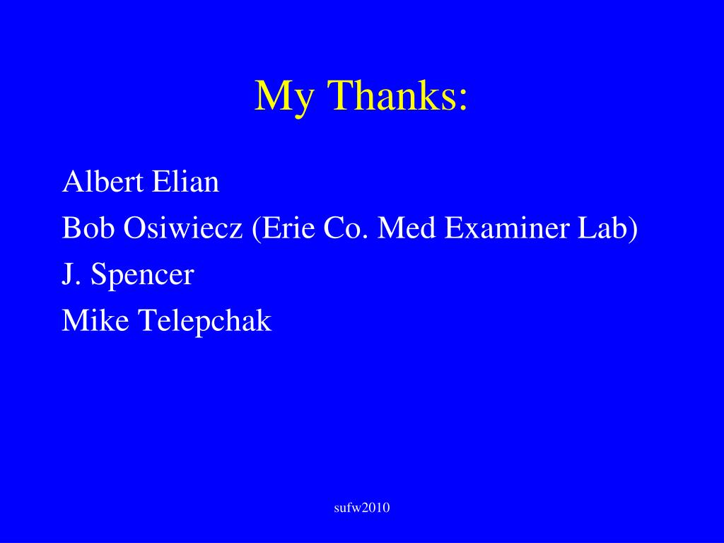 My Thanks: