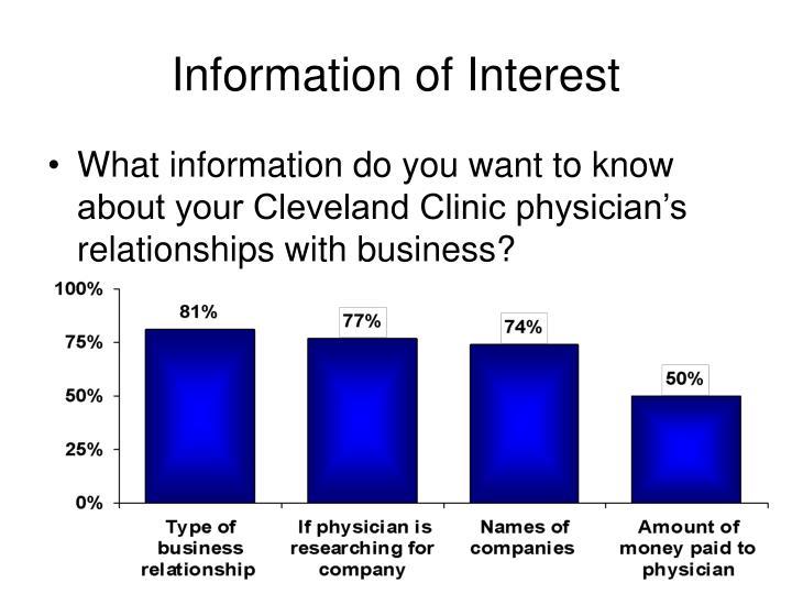 Information of Interest