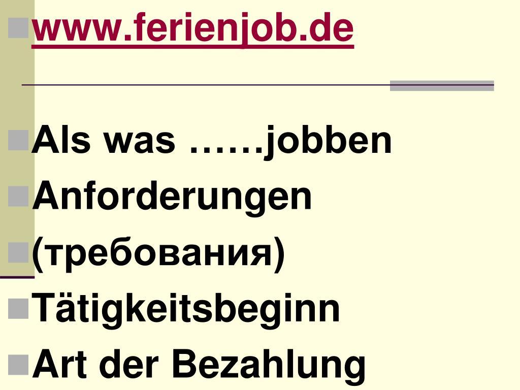 www.ferienjob.de
