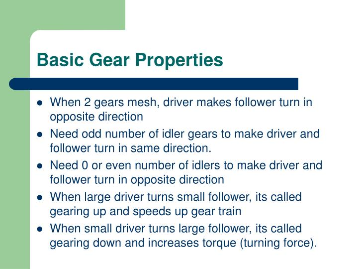 Basic Gear Properties