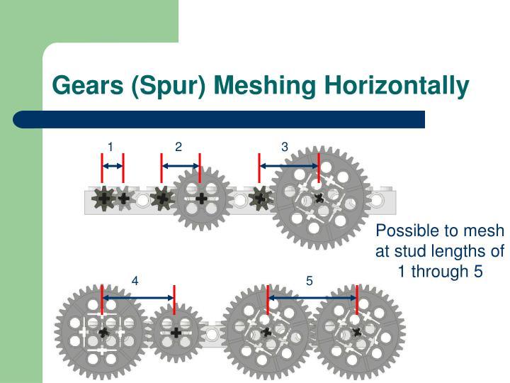 Gears (Spur) Meshing Horizontally