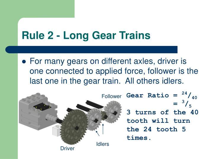 Rule 2 - Long Gear Trains