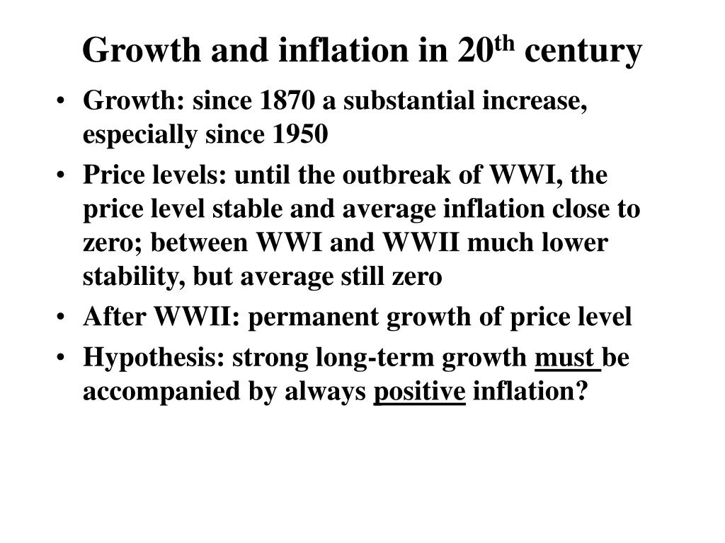 Growth and inflation in 20