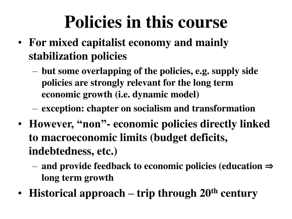 Policies in this course