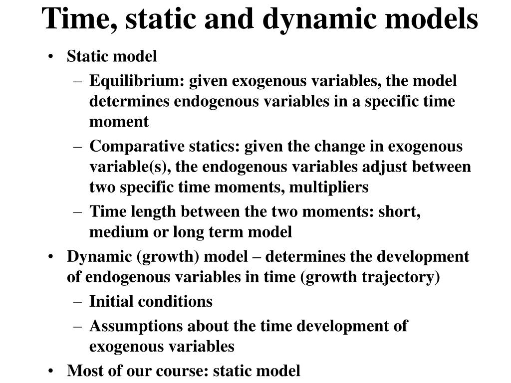 Time, static