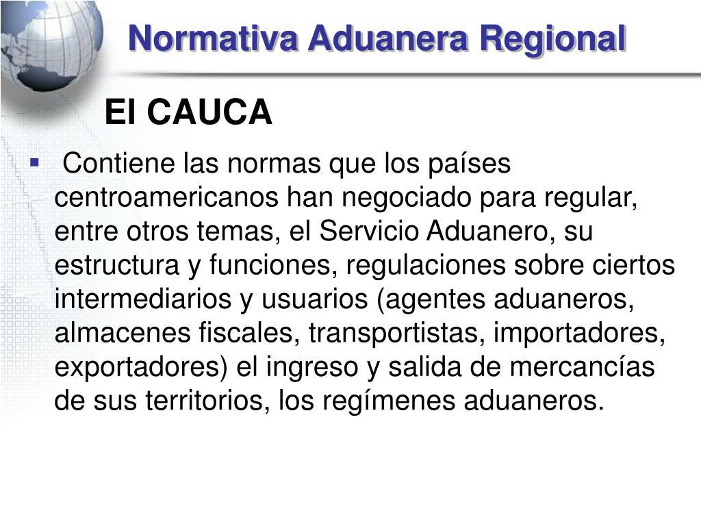 Normativa Aduanera Regional