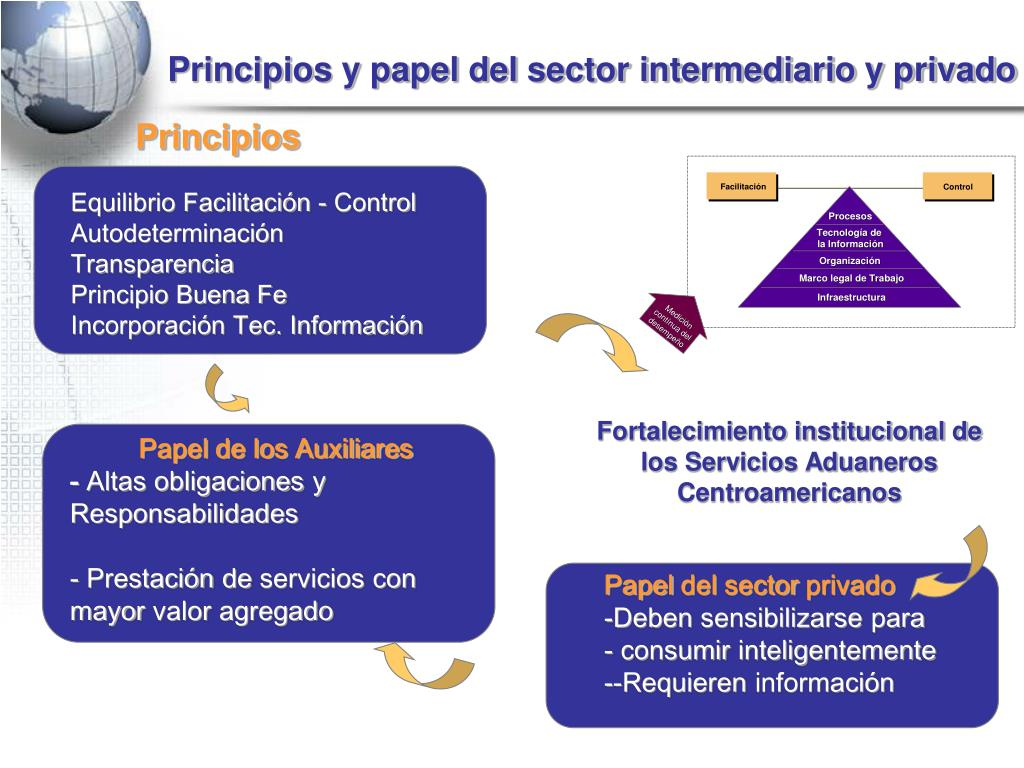 Principios y papel del sector intermediario y privado