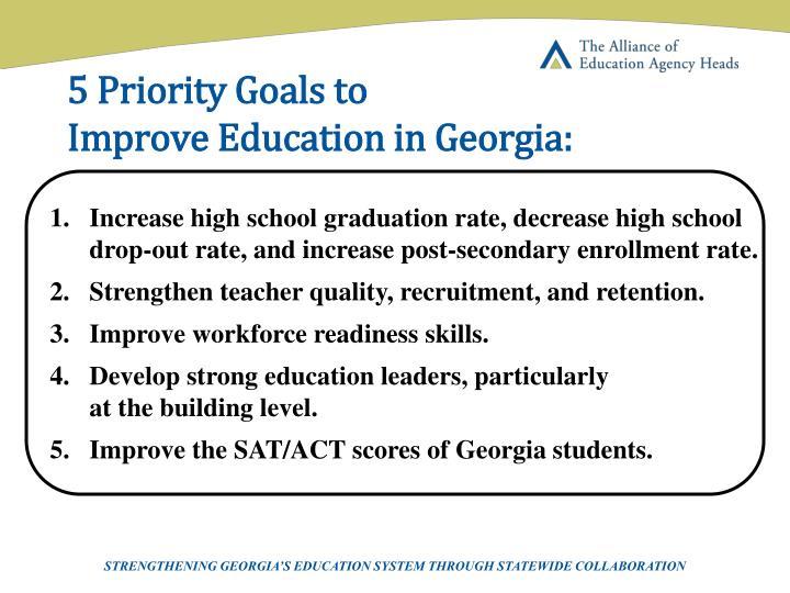 5 Priority Goals to