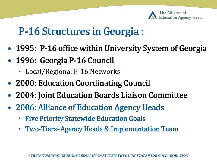 P 16 structures in georgia