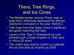 thera tree rings and ice cores