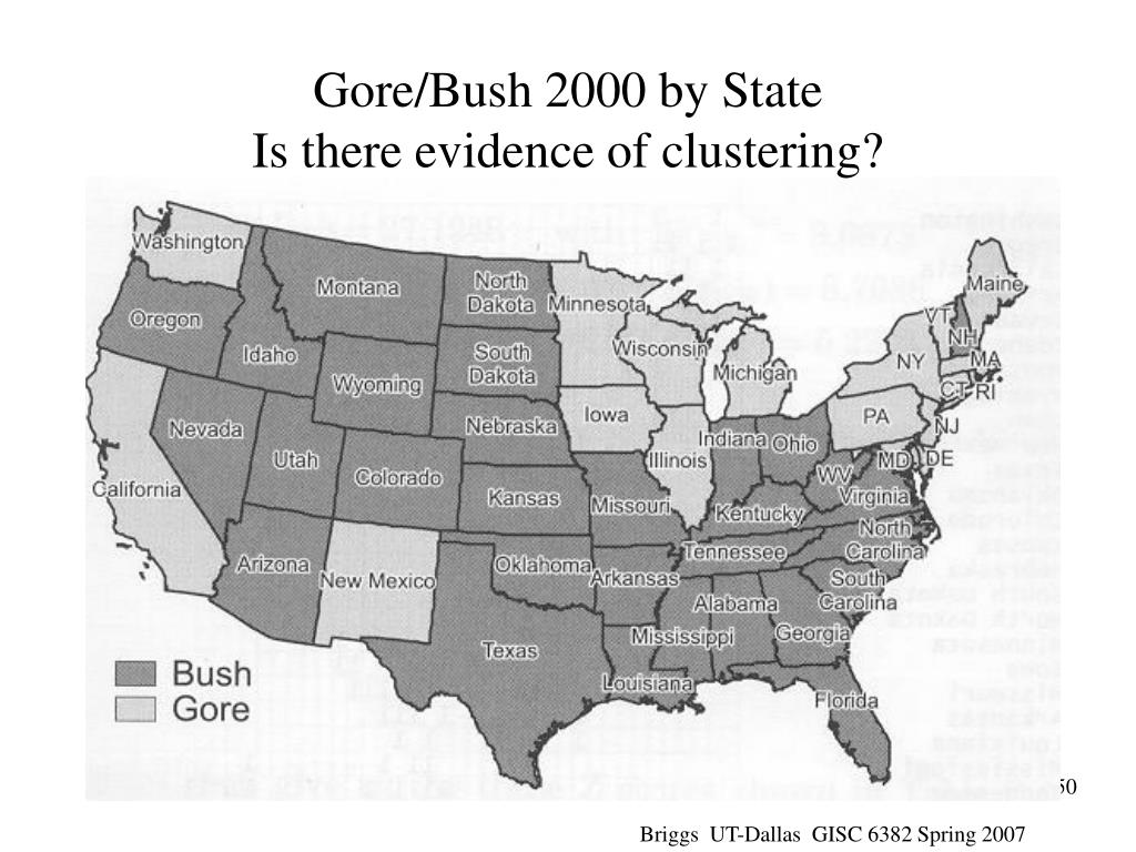 Gore/Bush 2000 by State