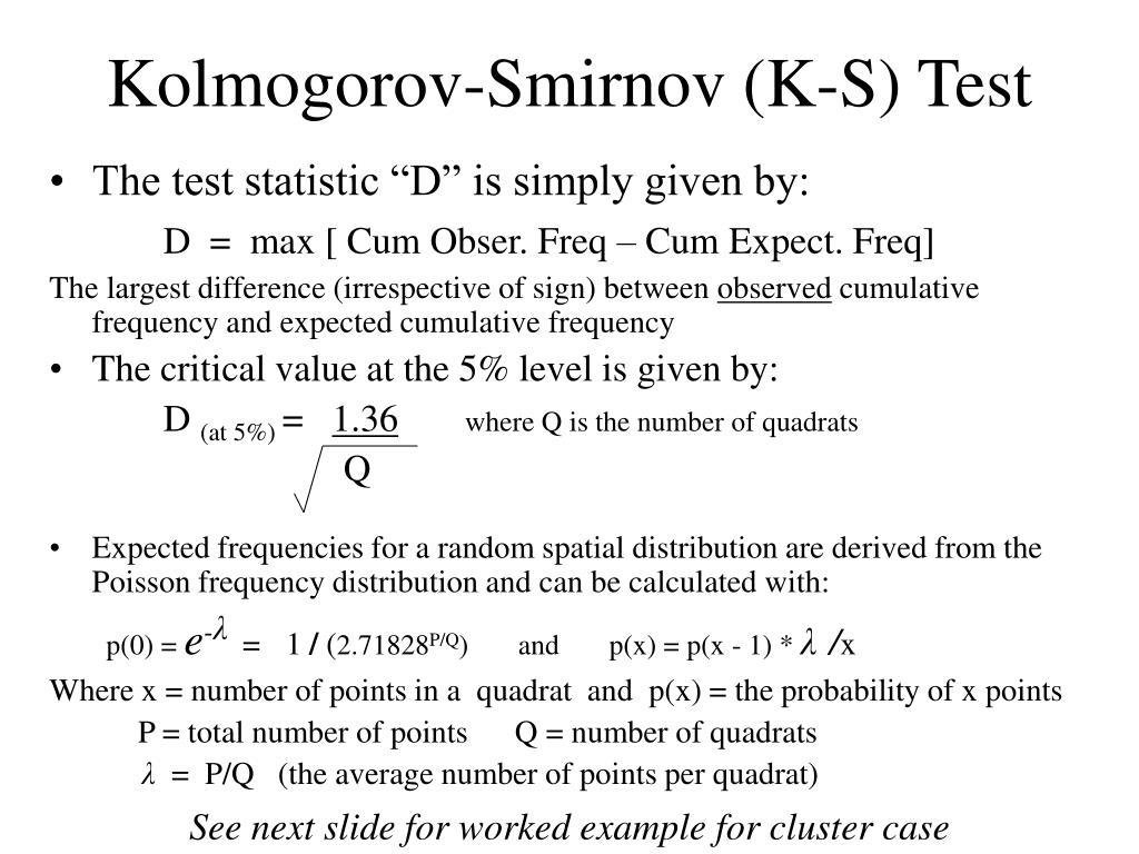 Kolmogorov-Smirnov (K-S) Test