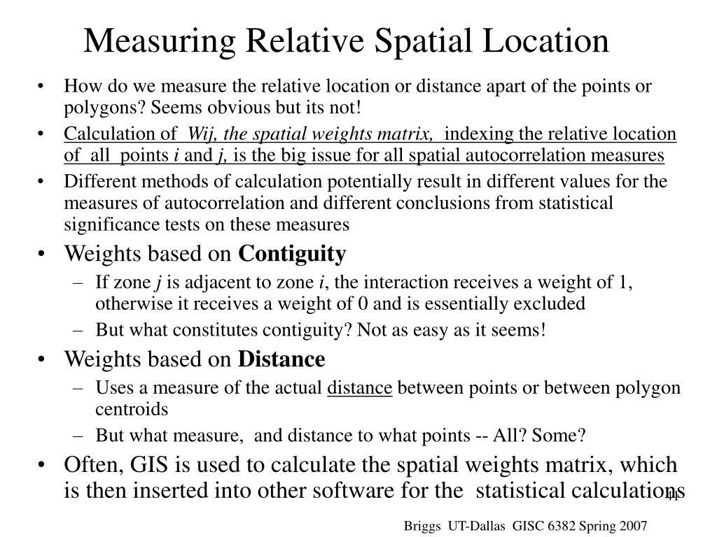 Measuring Relative Spatial Location