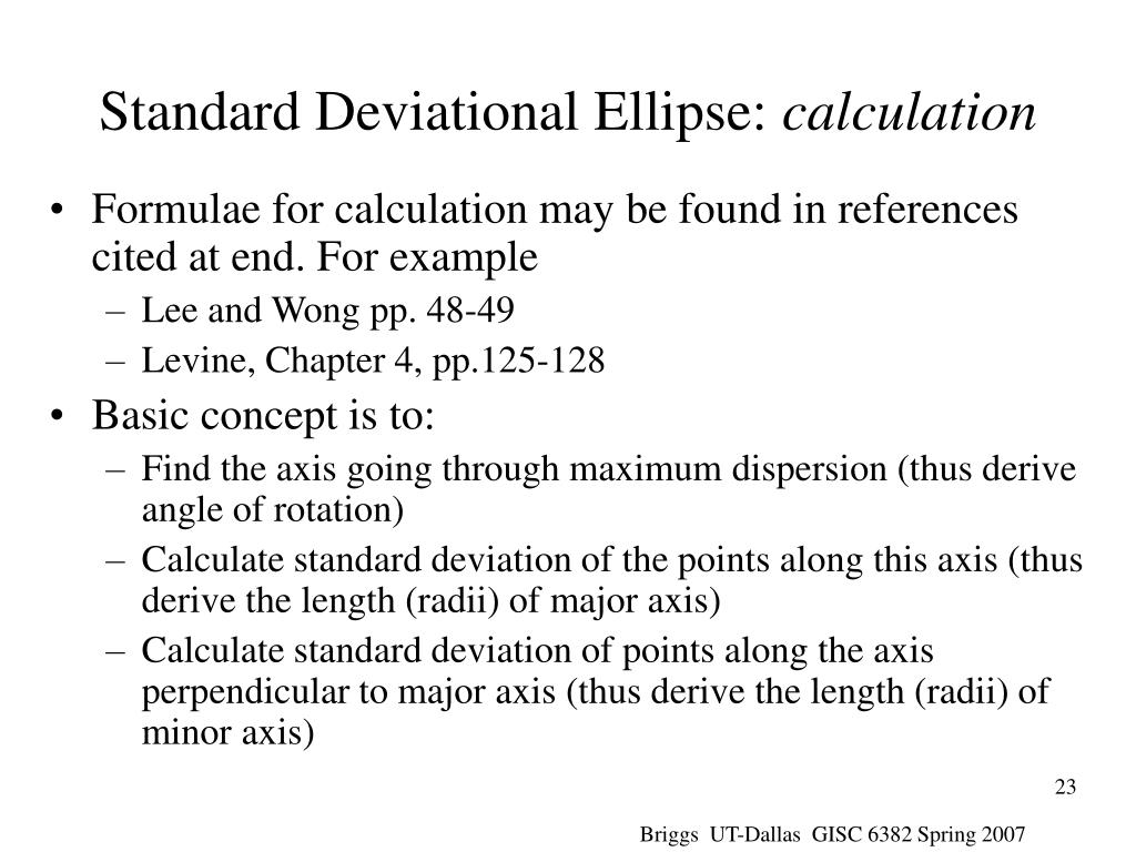 Standard Deviational Ellipse: