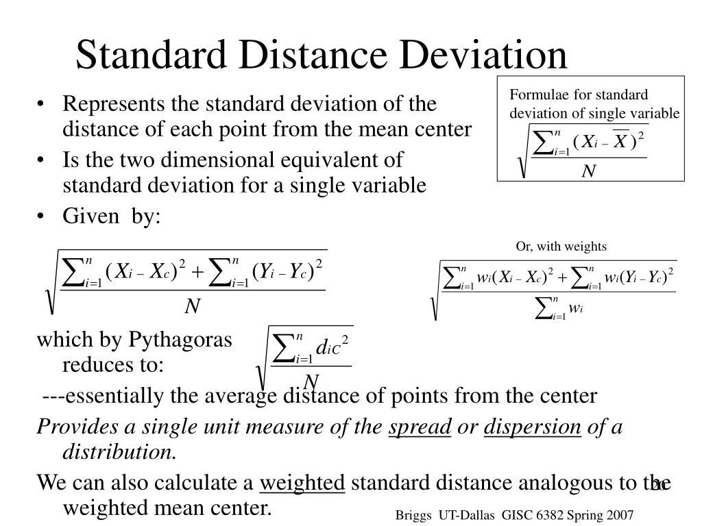 Formulae for standard