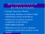 recommendation 6 by fran paolini