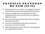 critical features of sam 11 15