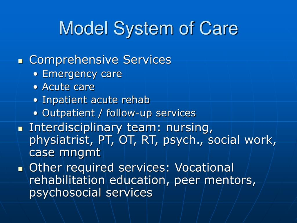 Model System of Care