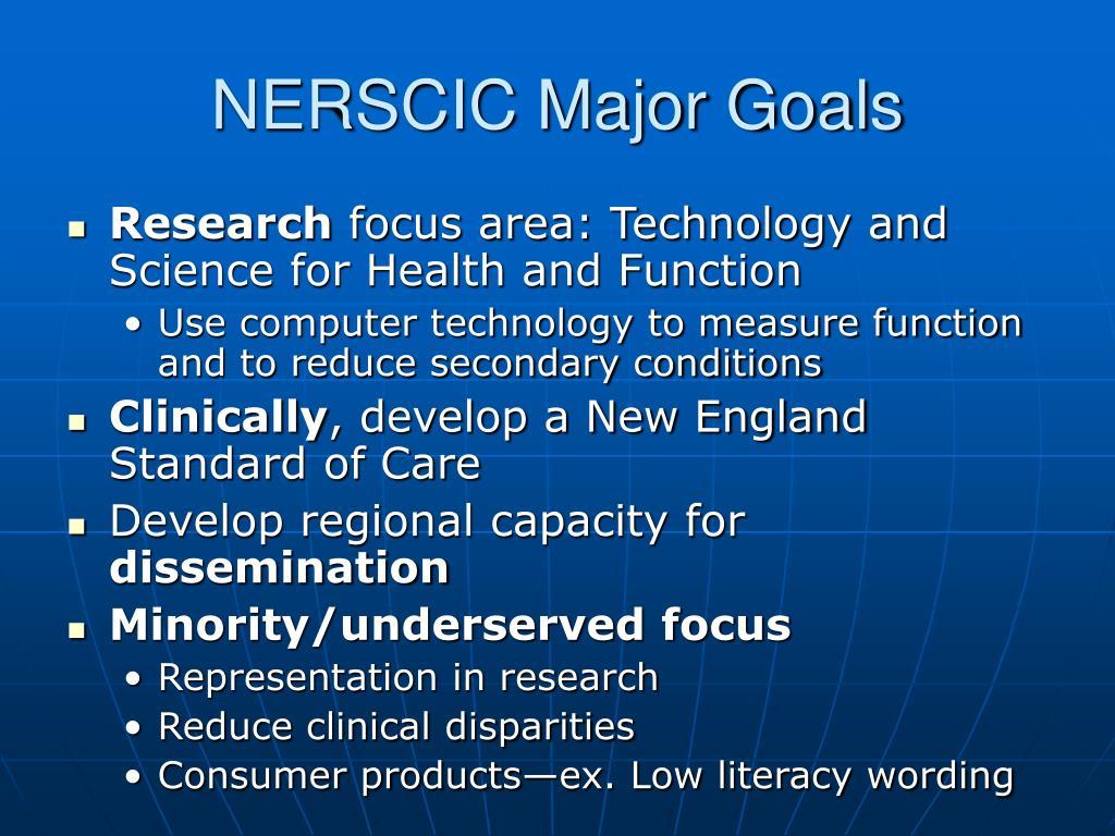 NERSCIC Major Goals