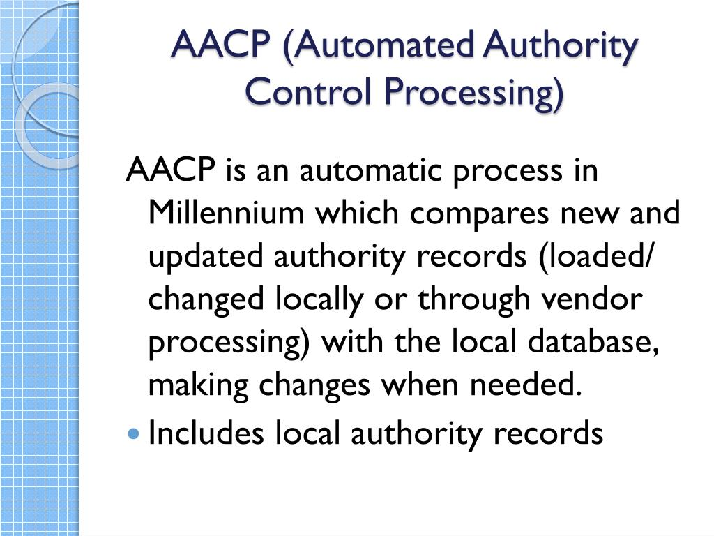 AACP (Automated Authority Control Processing)