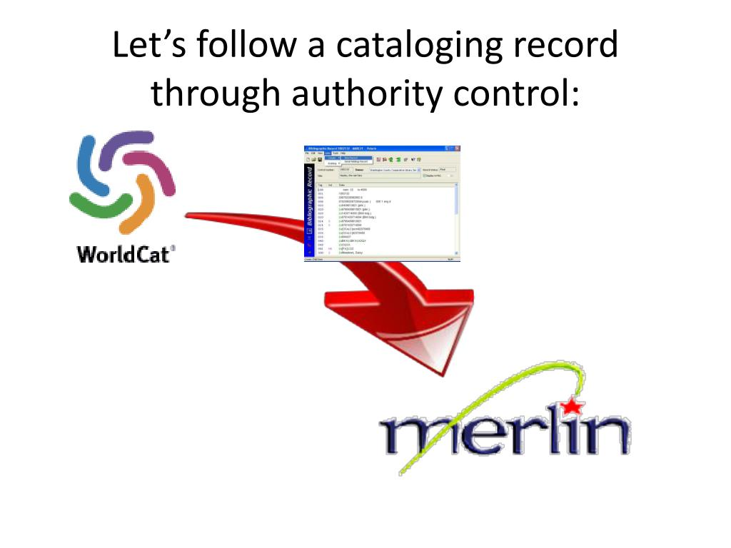 Let's follow a cataloging record through authority control: