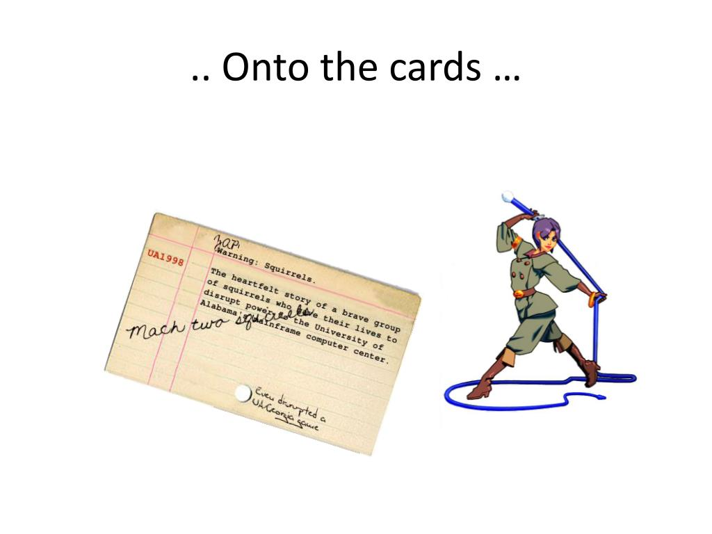 .. Onto the cards …