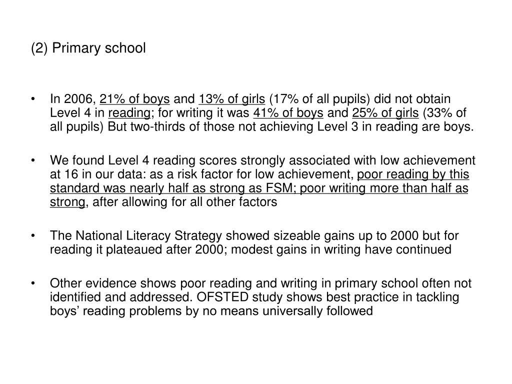 (2) Primary school