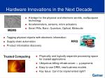 hardware innovations in the next decade