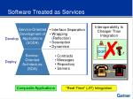 software treated as services