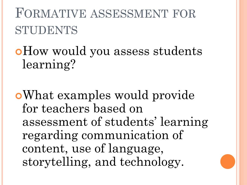 Formative assessment for students