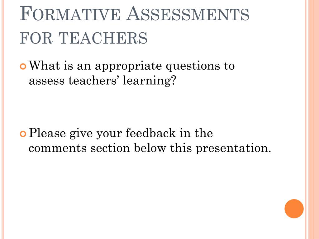 Formative Assessments for teachers