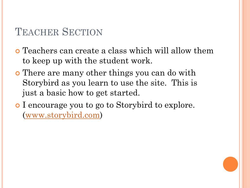 Teacher Section