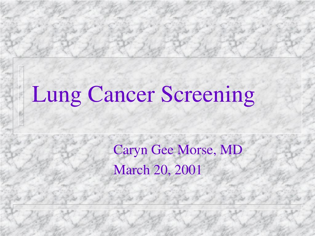 lung cancer screening l.