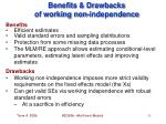 benefits drawbacks of working non independence