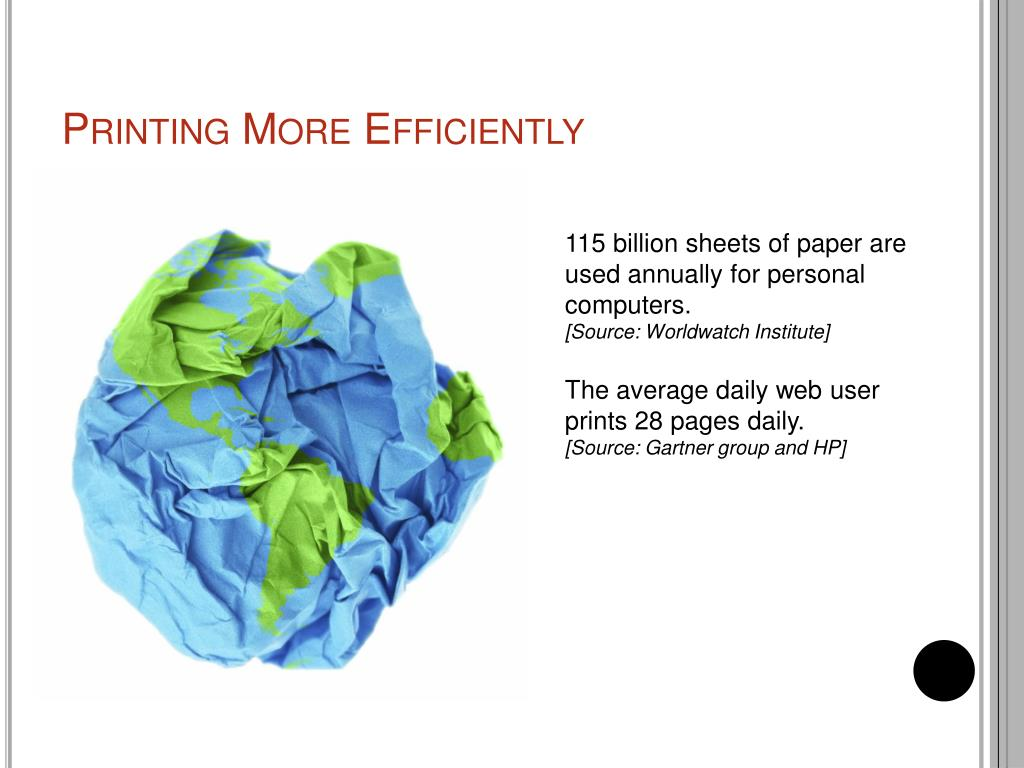 Printing More Efficiently