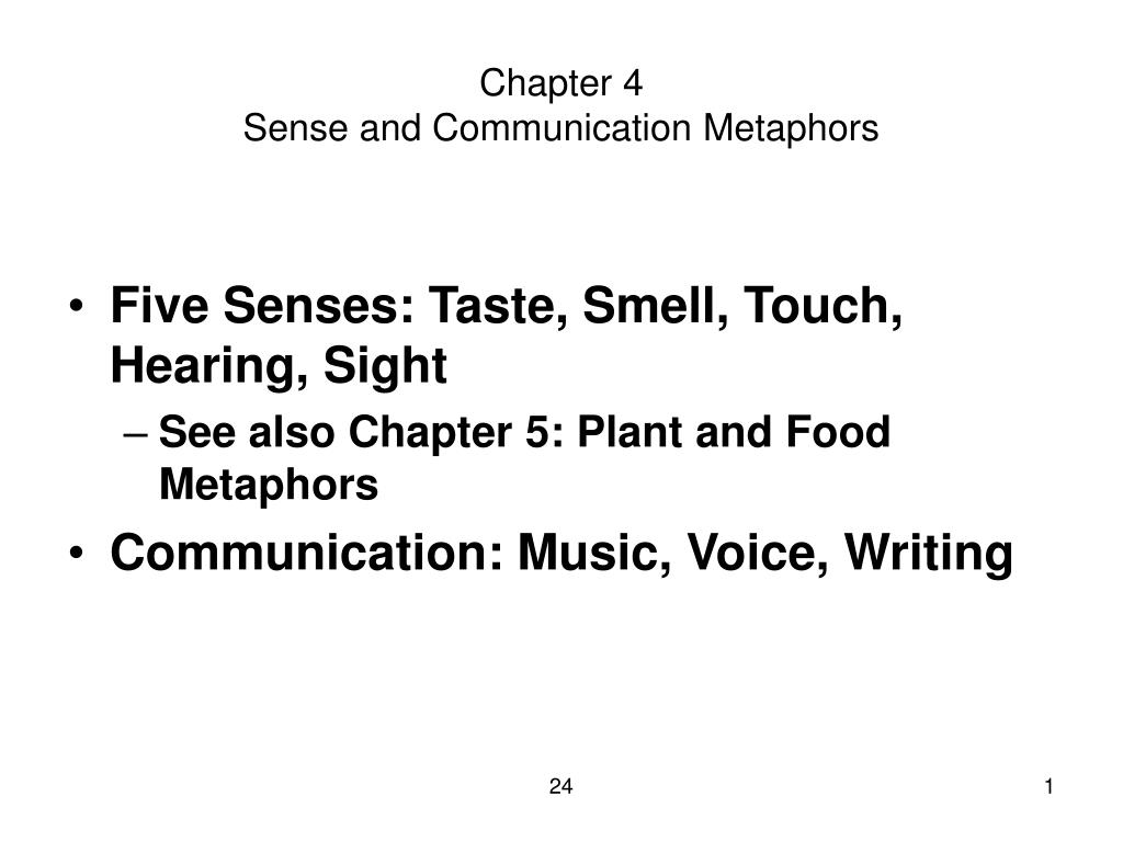 chapter 4 sense and communication metaphors l.